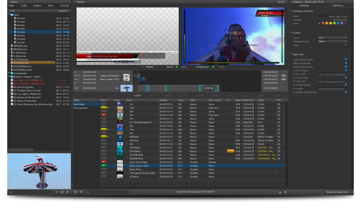 just:live – Tools On Air Broadcast GmbH – TV Station in a Mac